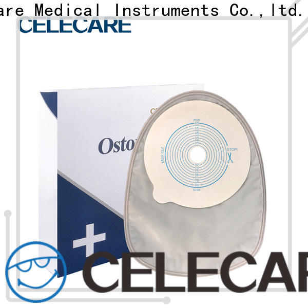 Celecare oem two piece ostomy bag supplier for people with colostomy