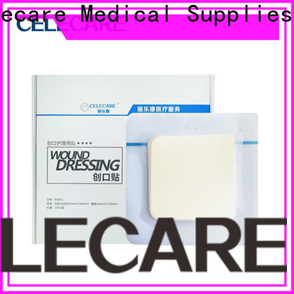 Celecare oem foam dressings for pressure ulcers suppliers for injuried skin