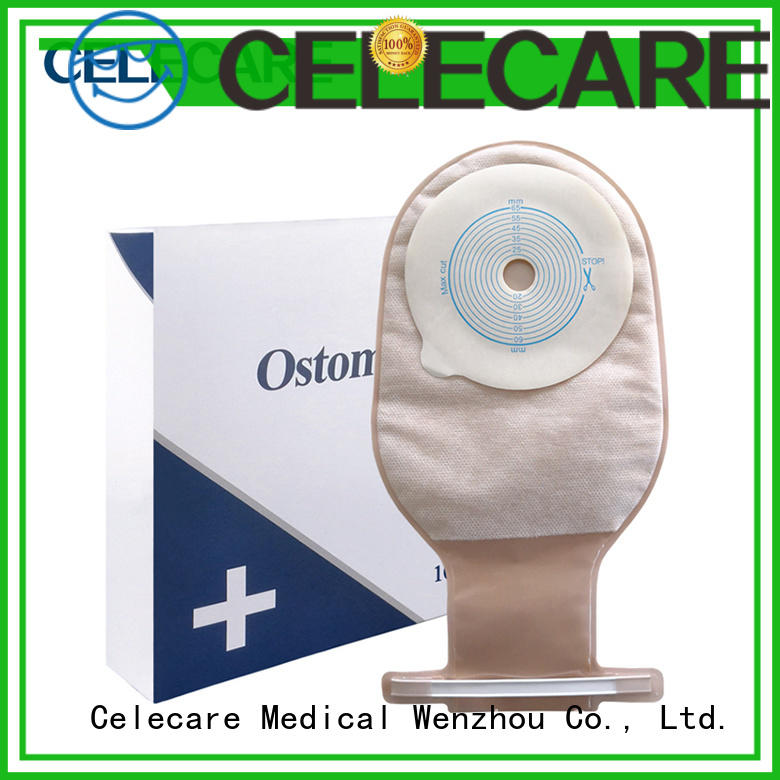 Celecare colostomy pouch customized for people with colostomy