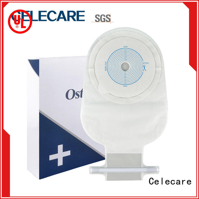 Celecare safety ostomy bag coloplast customized for people with colostomy