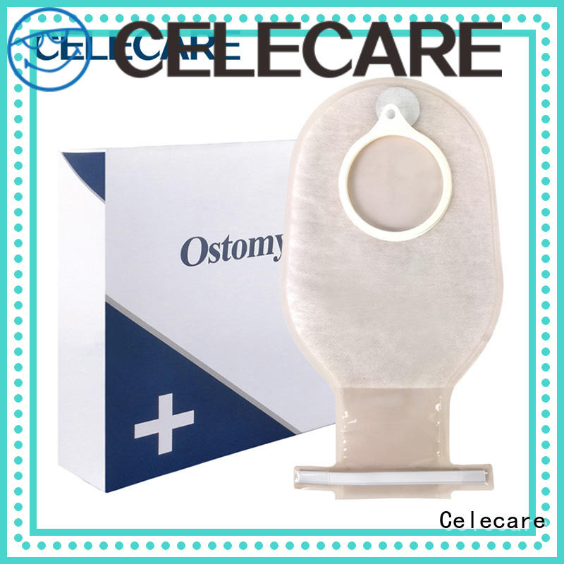 Celecare one piece drainable ostomy pouch directly sale for hospital