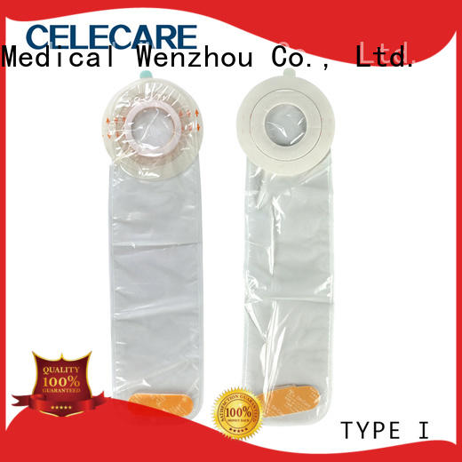 Celecare waterproof central line covers customized for stoma cleaning