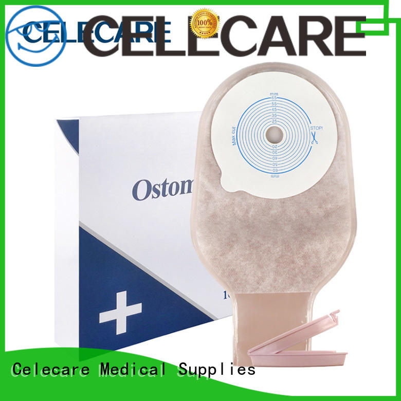 Celecare comfortable ostomy disposal bags factory price for people with colostomy