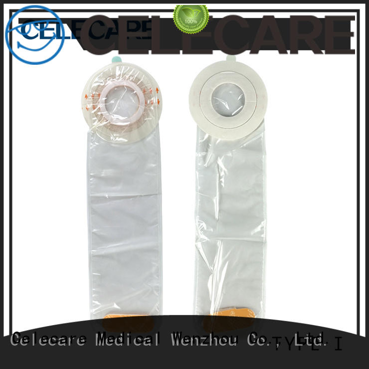 Celecare catheter cover without corrosive for stoma cleaning