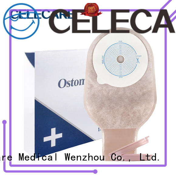 One-piece ostomy bag supplies, open ostomy bag from Celecare - A002