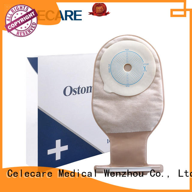 One-piece ostomy pouch, open ostomy bag from Celecare - A001